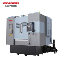 Winpower Automatic Double Turrets Vertical Slant Bed Turret Alloy Wheel Chinese Price CNC Lathe